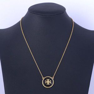 Tory Burch Semi Precious Stone Gold Necklace